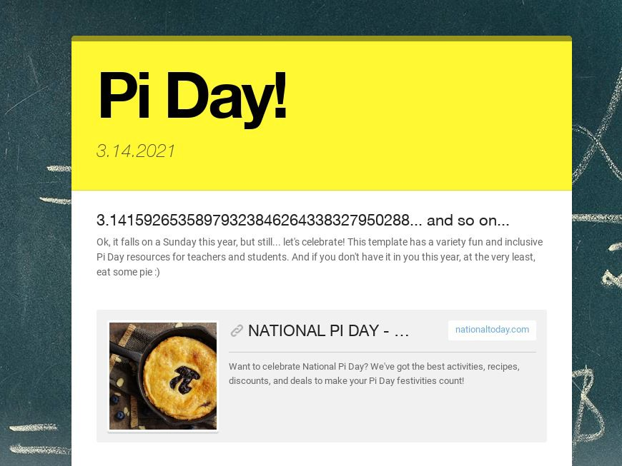 Pi Day Ideas for Educators