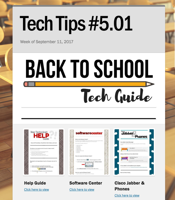 Smore for your fellow teachers — tech tools and classroom resources