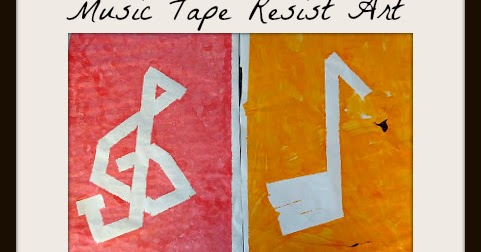 Music Tape Resist Art | And Next Comes L