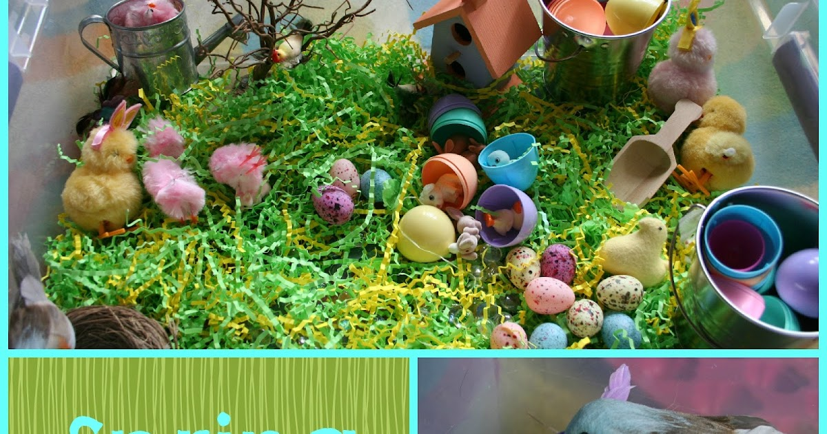 Pink and Green Mama: * Preschool At Home: Spring Sensory Box