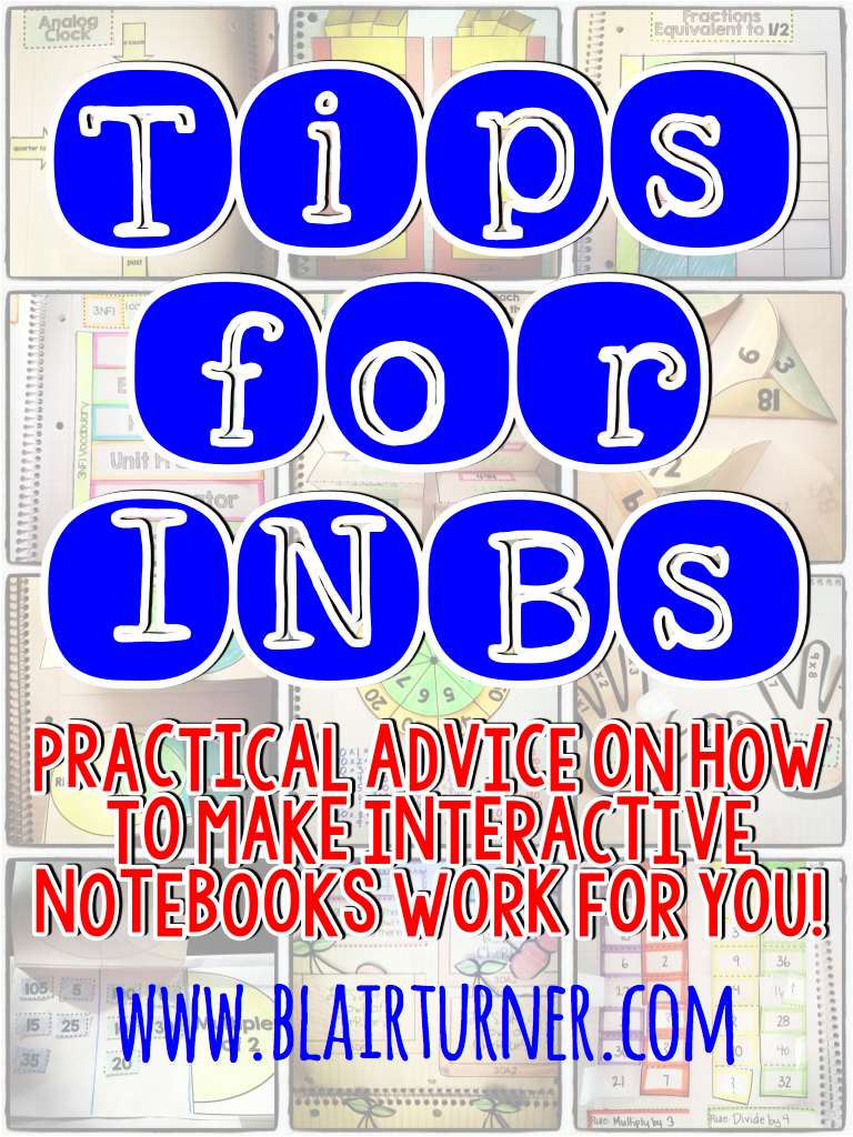 Tips for INBs: Making Interactive Notebooks Work For You - BlairTurner.com