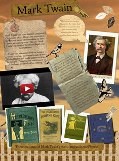 Mark Twain: text, images, music, video | Glogster EDU - 21st century multimedia tool for educators, teachers and students