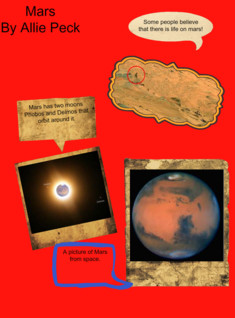 mars project: text, images, music, video | Glogster EDU - 21st century multimedia tool for educators, teachers and students