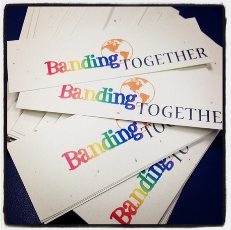 "Van Meter Library Voice: Spread the Word With The ""Banding Together"" Logo"