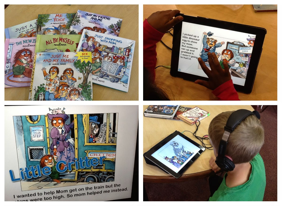 Technology is Loose in the Library!!: 1st Graders Love Mercer Mayer's Just Me And My Mom eBook App!!
