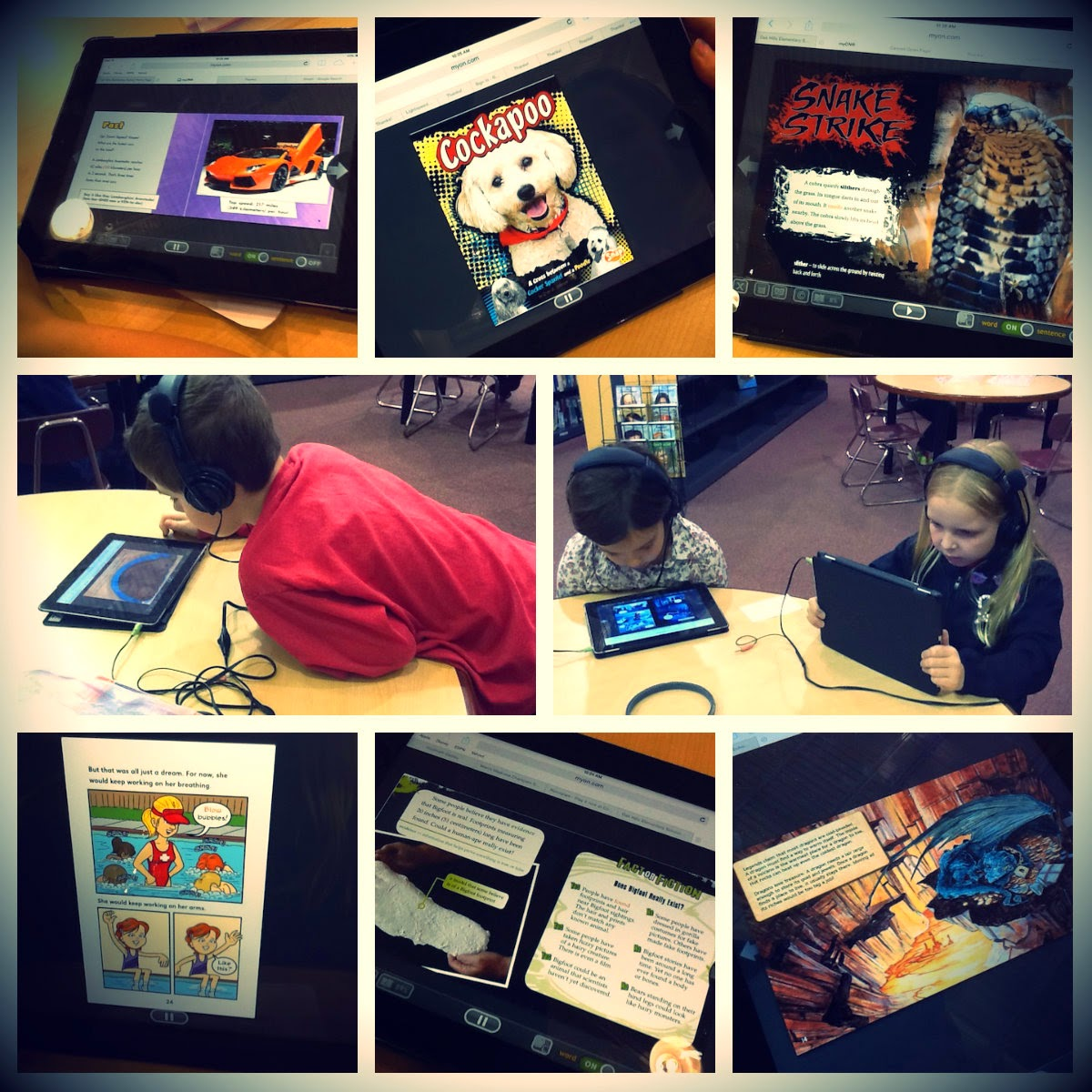 Technology is Loose in the Library!!: 2nd Graders Are Totally Captivated By MyOn eBooks!