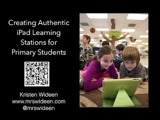 Mrs.Wideen's Blog:  Tips and Tricks for Creating Authentic iPad Learning Stations for Primary Students