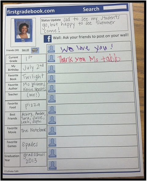 Another Glorious Day : FACEBOOK (firstgradebook) Last Day of School Memory Book Printable!