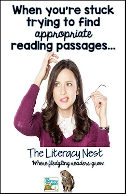 The Literacy Nest: When You're Stuck Trying To Find Appropriate Reading Passages...