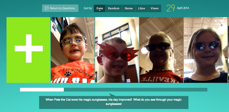 Technology is Loose in the Library!!: Flipping Over The Flipgrid App!!!  First Graders Respond To Pete The Cat's Magic Sunglasses!!
