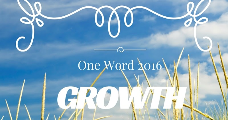 My Brain is Upside Down!: One Word 2016- Growth