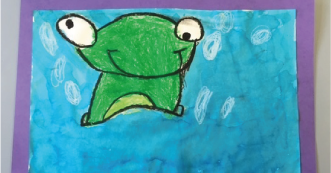 Frog Art Making
