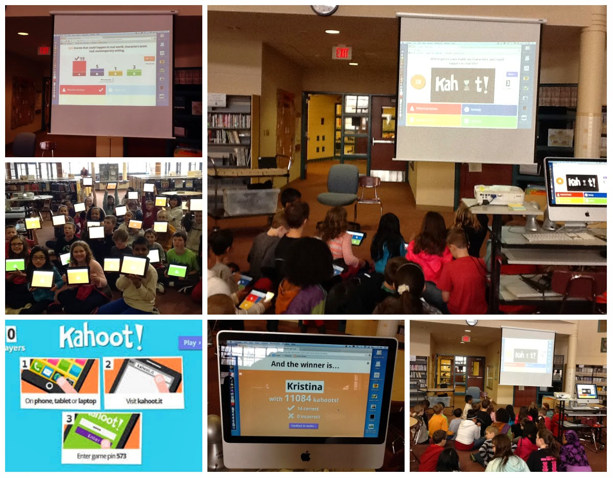 Technology is Loose in the Library!!: Kahoot Is A Hoot!!  Gamification Of A Media Lesson!