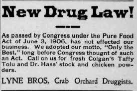 Pure Food and Drug Act