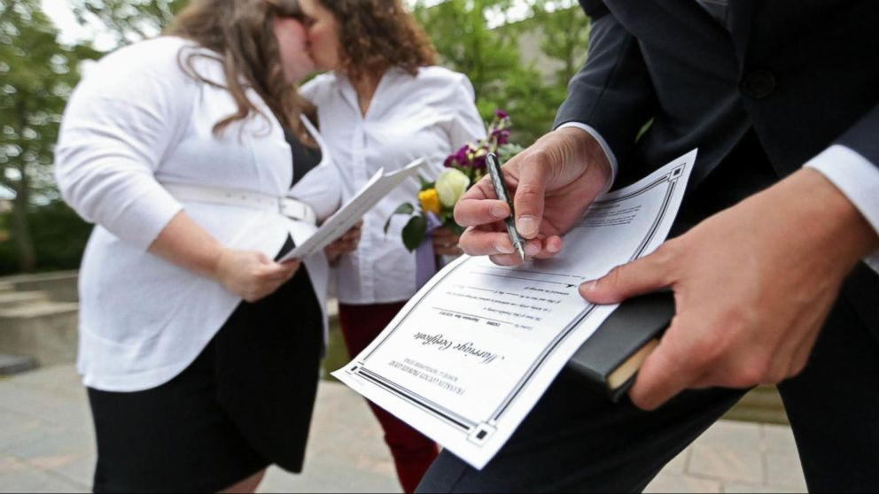 Video: Same-Sex Weddings Held Across the Country