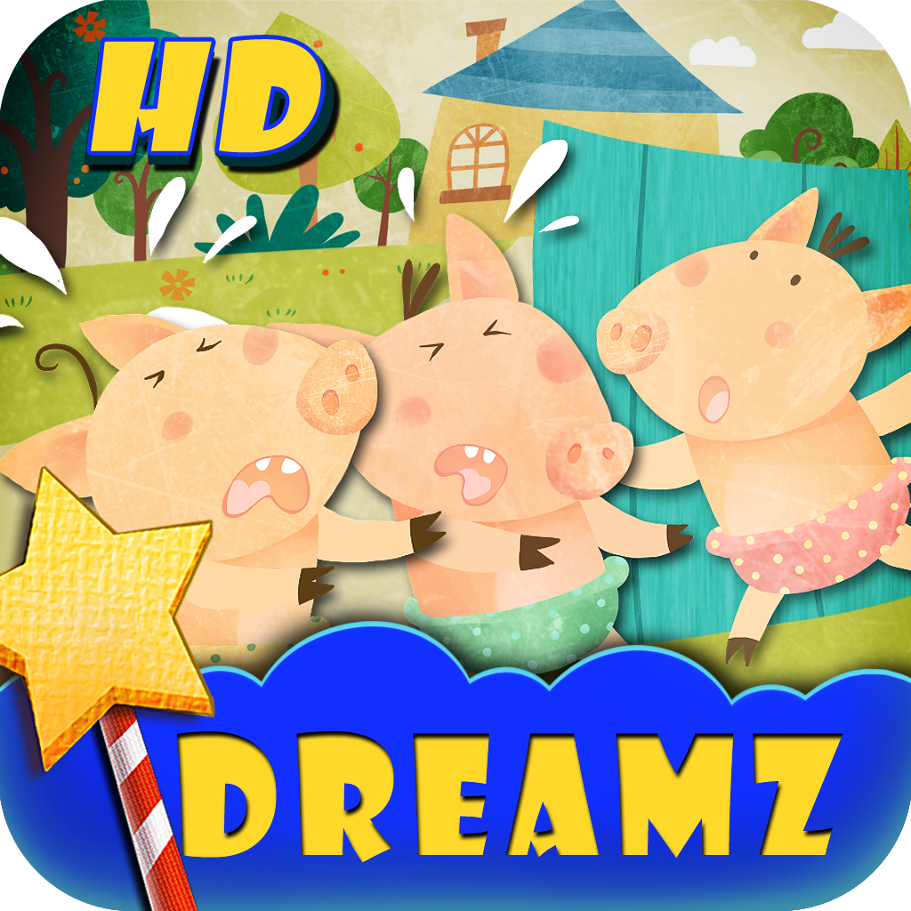 The Three Little Pigs-HD:Interactive Kid's book by DreamZ