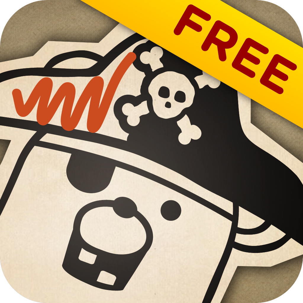 Pirate Scribblebeard's Treasure FREE by Kidoodle - Your child's drawings come to life as they tell the story!