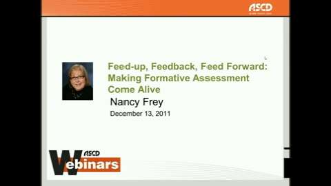 Feed Up, Feedback, Feed Forward Webinar with Nancy Frey