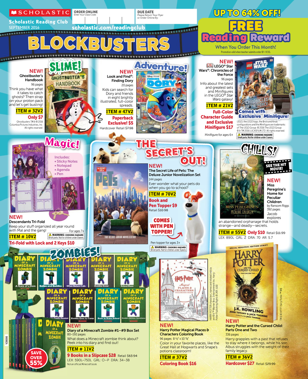 Reading Club Blockbusters | September 2016