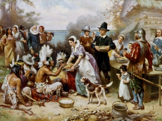 First Thanksgiving Meal - Thanksgiving - HISTORY.com