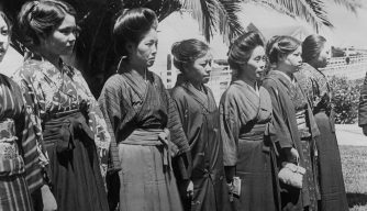 japanese-brides-lining-up-for-inspection - Immigration: Angel Island Pictures - U.S. Immigration Before 1965 - HISTORY.com