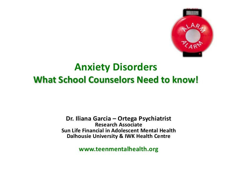 Anxiety Disorders: What School Counsellors Need to Know