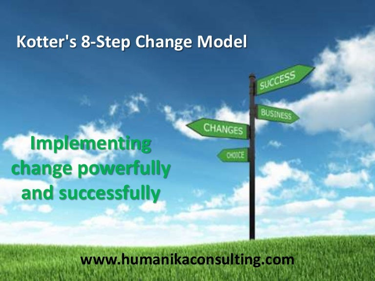 Kotter's 8 step change model