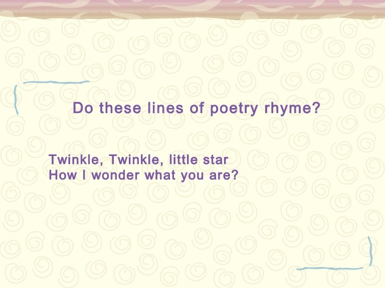 Rhyme mini lesson