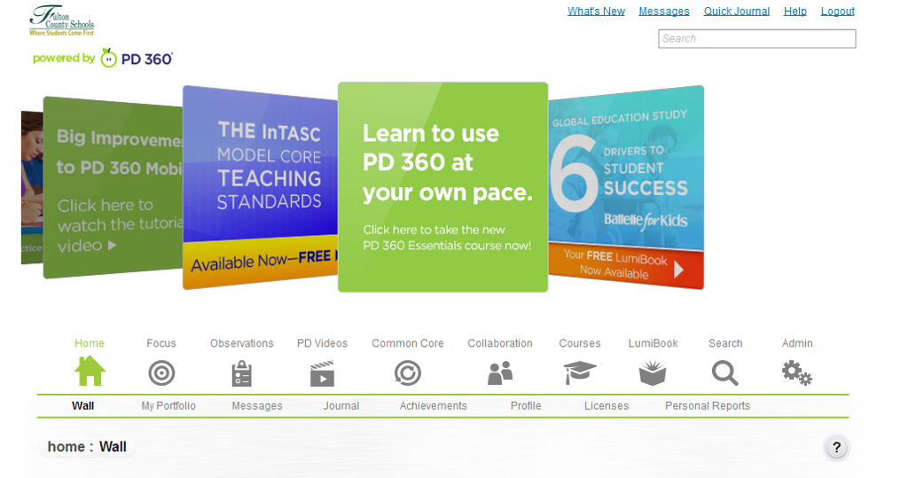 PD 360 Walkthrough by Susan Fisher