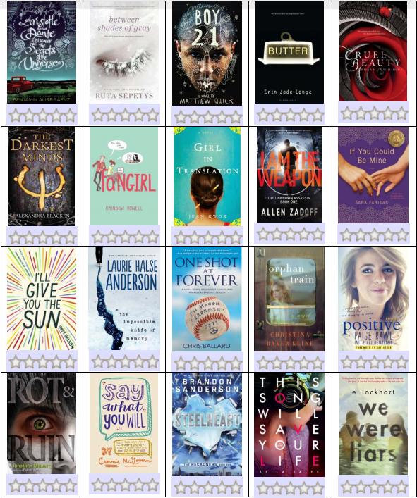 2015-2016 Abe Book Award Nominees by Westimc