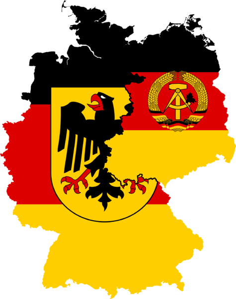 Flag of West Germany, Flag of East Germany by Jamal Sayid