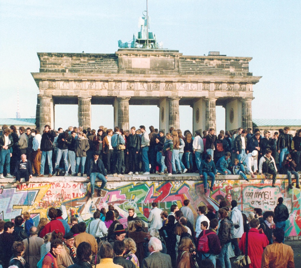 """Brandenburg Gate People gather in front of the Brandenbu... by Jamal Sayid"