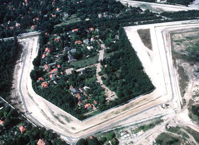 Aerial view of a segment of the Berlin Wall by Jamal Sayid