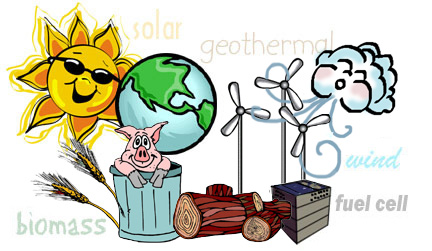 Alternative Energy comes from resources like the sun (sol... by kyra