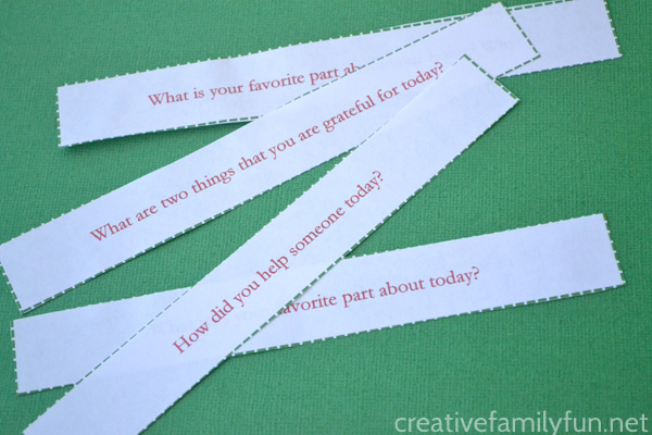 Gratitude Conversation Starters - Creative Family Fun