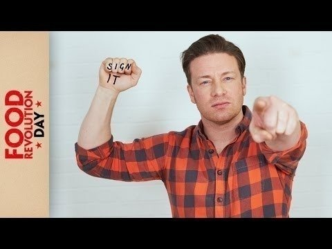 JAMIE OLIVER NEEDS YOUR HELP FIGHTING FOR FOOD EDUCATION #FoodRevolutionDay