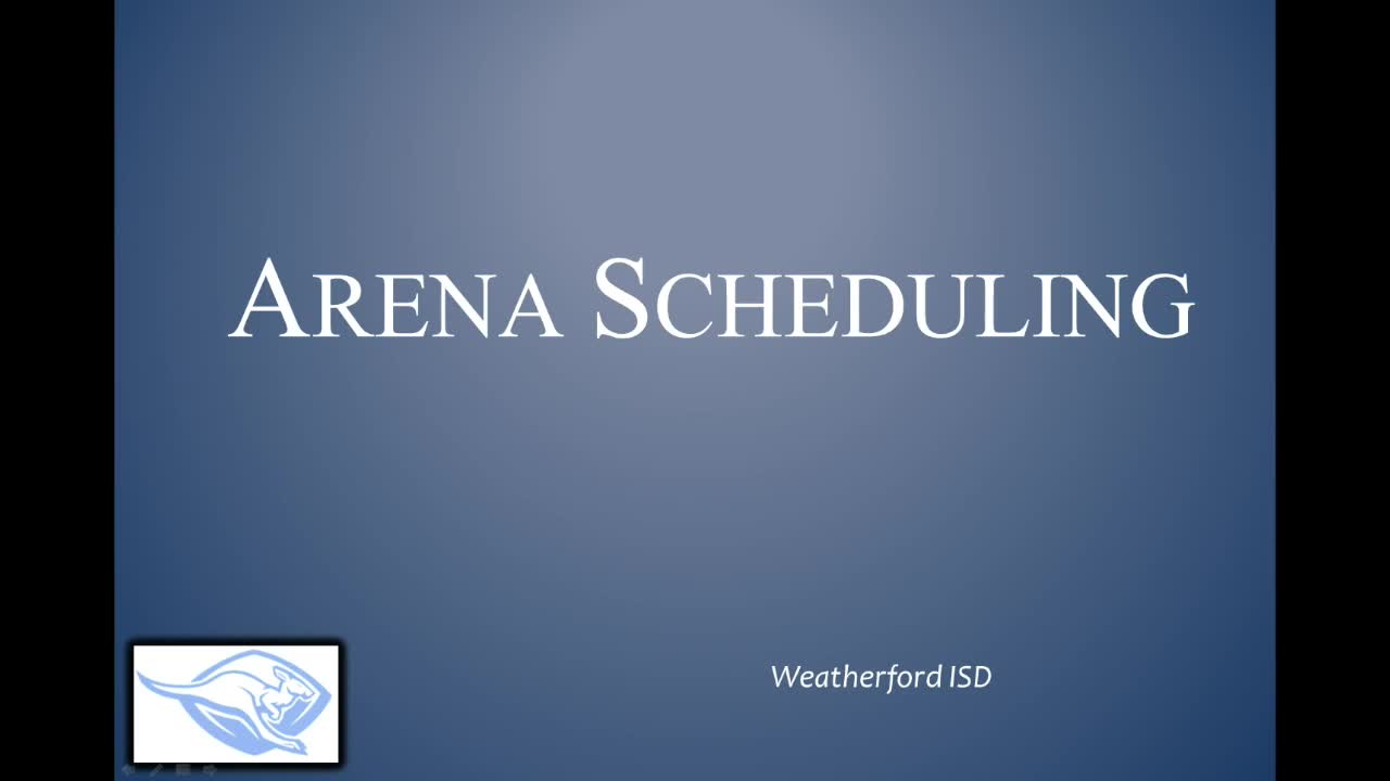 Arena Scheduling Training Video