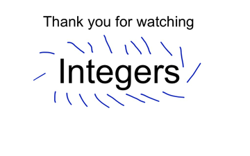 Integers Part Two | Educreations