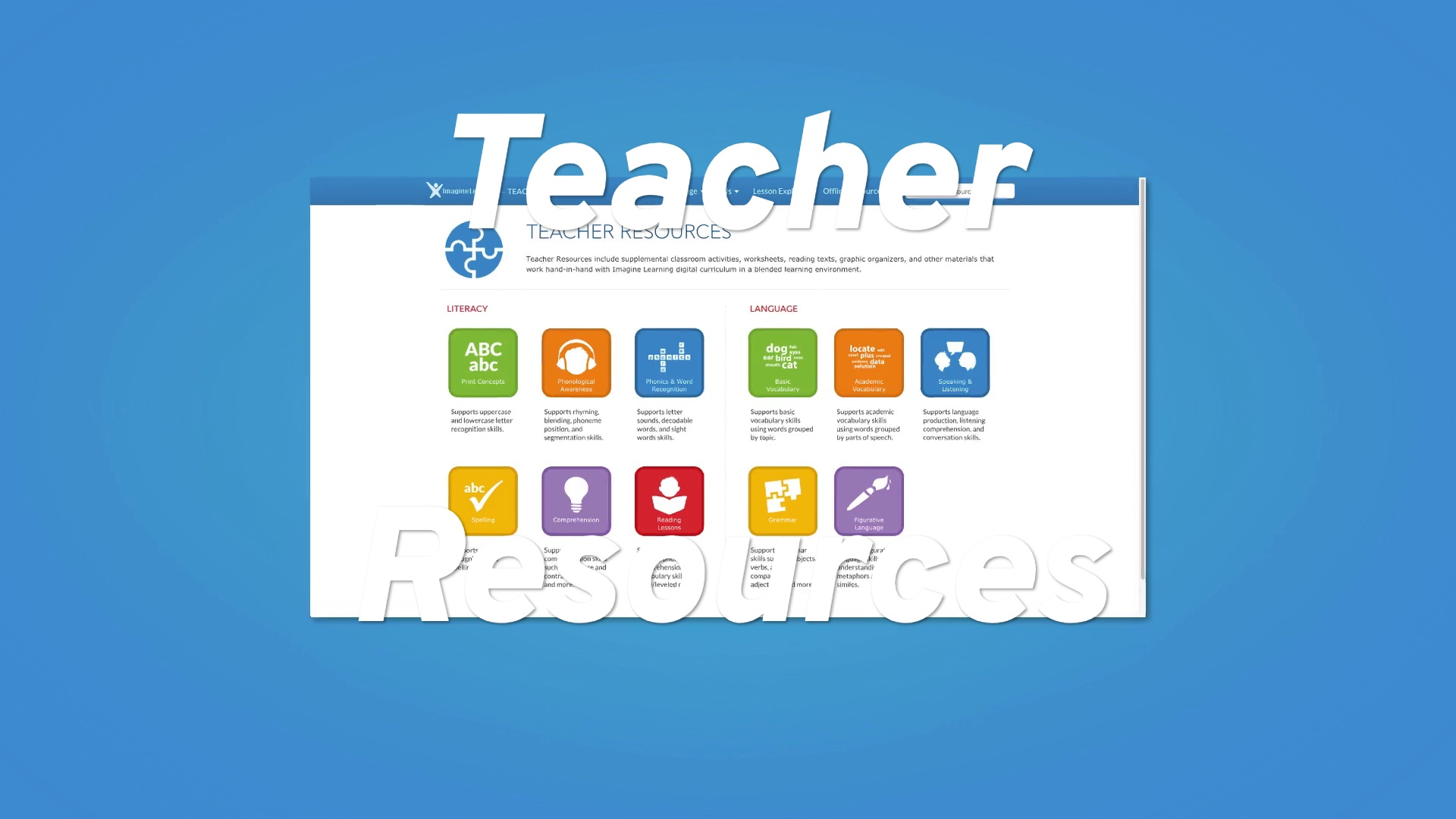 Teacher Resources Overview: Imagine Language & Literacy