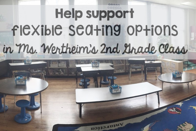 Click here to support Flexible Seating Options by Becca Wertheim