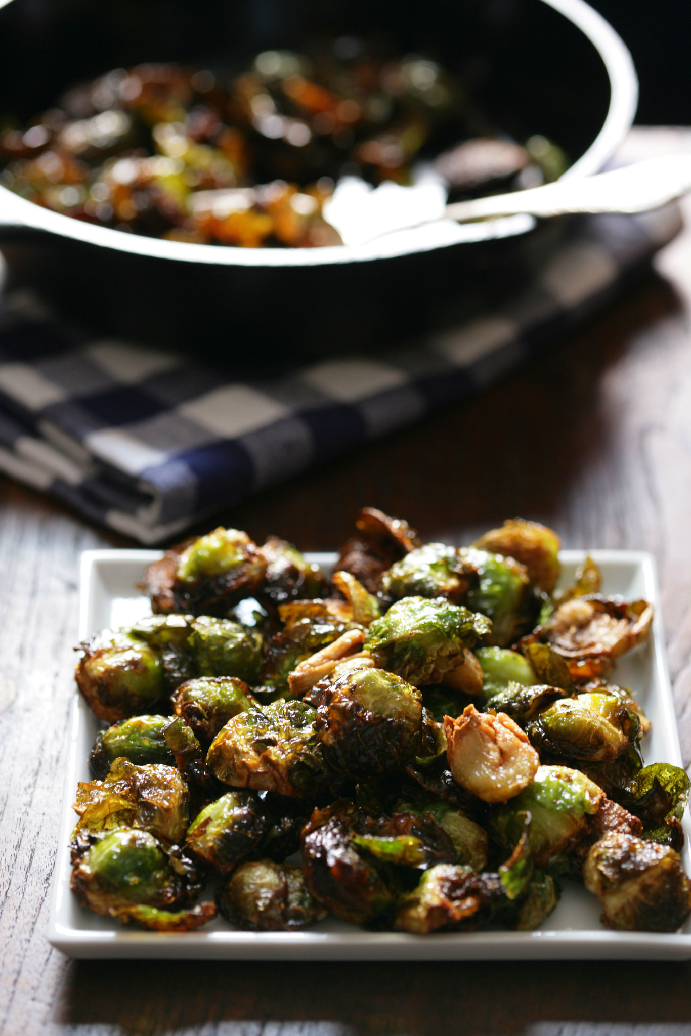 Roasted Brussels Sprouts With Garlic Recipe