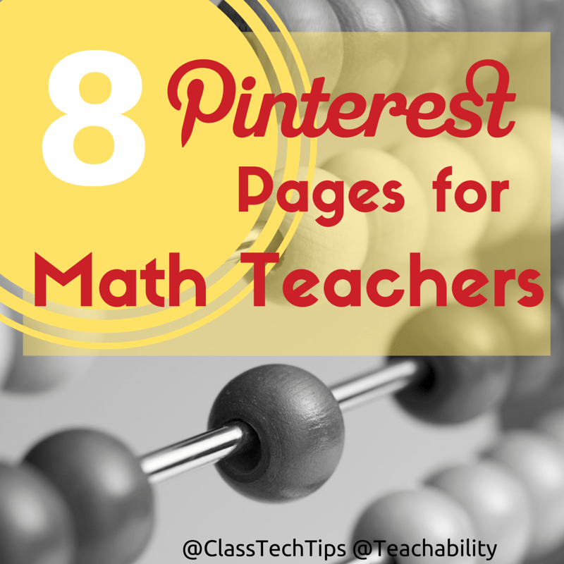 8 Pinterest Pages for Math Teachers