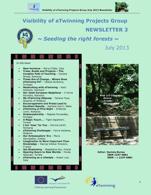 Visibility of eTwinning Projects Group Newsletter 3 - July 2013