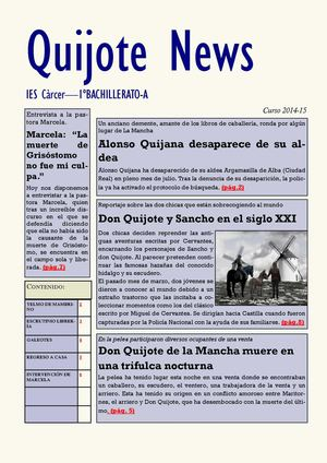 Quijote News 1bach A Ies Càrcer