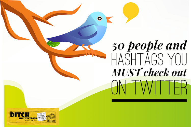 50 people and hashtags you MUST check out on Twitter