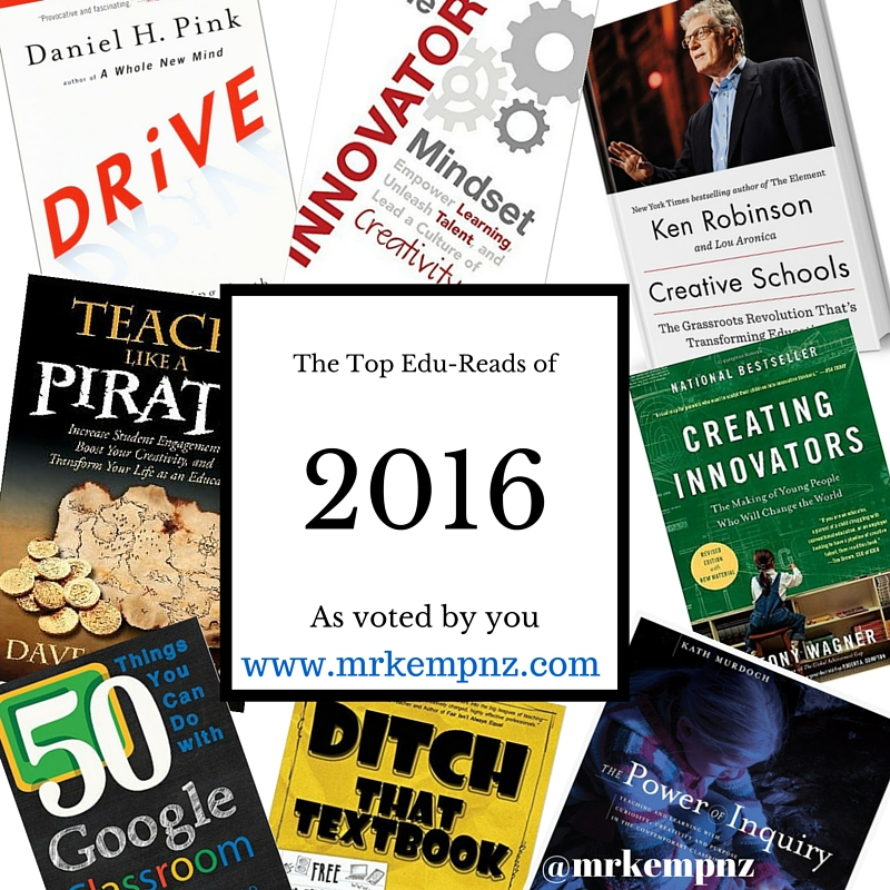 The Top 8 Professional Reads for Educators 2016 (plus more)