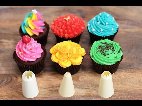 '6 Best Cupcake Frosting Styles using a STAR Piping Tip. Perfect Cupcakes!' on ViewPure