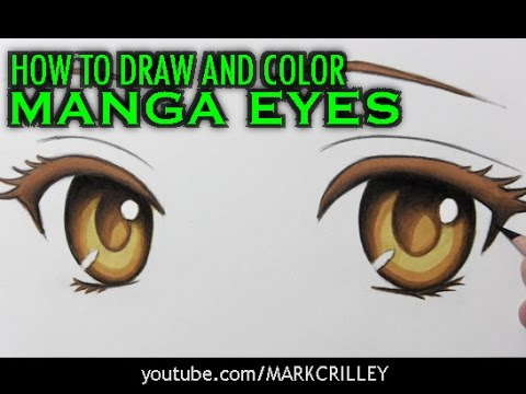 'How to Draw and Color Manga Eyes: Narrated Step-by-Step Tutorial' on ViewPure