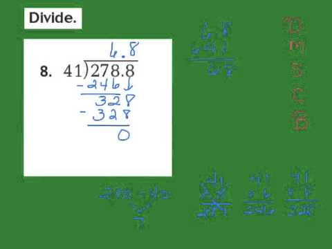 'Lesson 5.4 Division of Decimals by Whole Numbers' on ViewPure