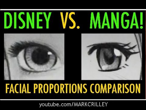 'Disney Vs. Manga: Facial Proportions Compared' on ViewPure